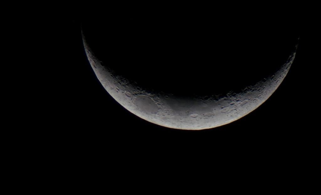 The Moon with my NEX 5N through a telescope