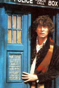 Tom Baker in the TARDIS