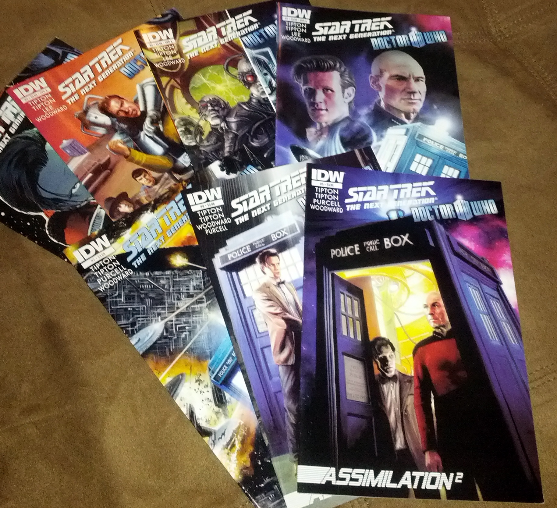 Doctor Who, Star Trek, comics