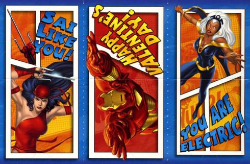 Geeky Marvel Comics Valentines