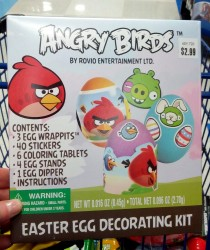 Angry Birds Easter egg decorating kit