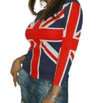 Rose Tyler cosplay Union Jack shirt