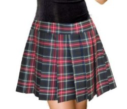 Vampire knight style plaid skirt