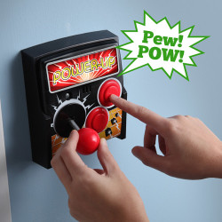 power-up arcade light switch plate in use