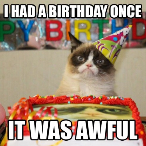 Grumpy Cat has a birthday