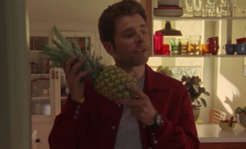 Shawn and the pineapple in the psych pilot