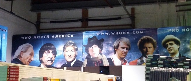 Peter Davison at Who North America Warehouse