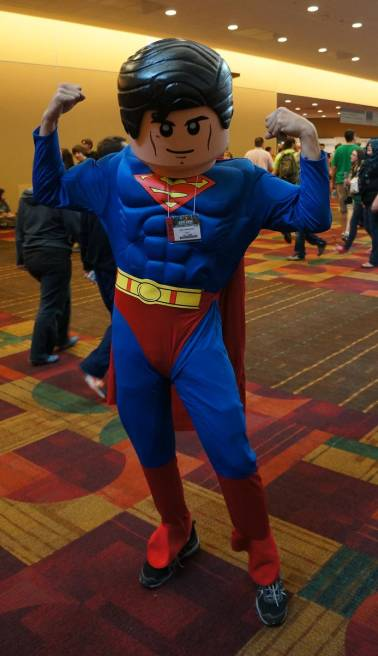 LEGO Superman cosplay GenCon 2013 Gen Con