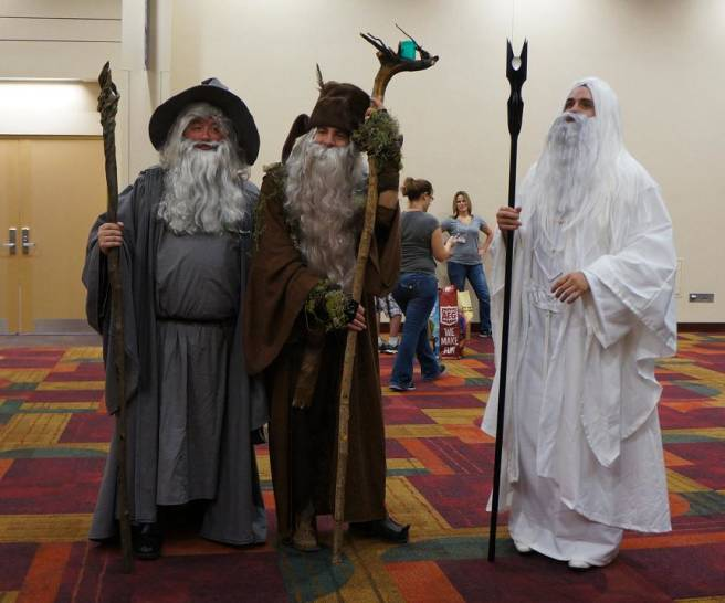 Lord of the Rings Wizards cosplay GenCon 2013 Radagast, Saruman, Gandalf
