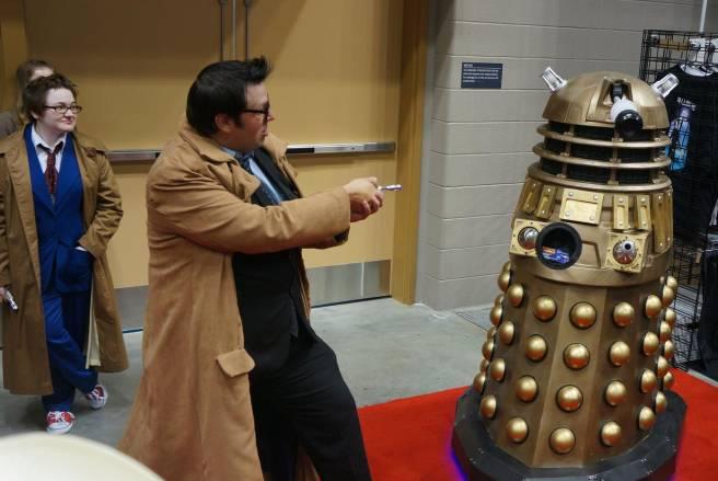 10th Doctor vs Dalek cosplay