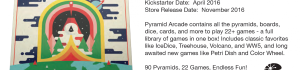 Kickstarter: Pyramid Arcade from Looney Labs
