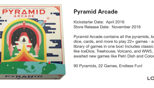Kickstarter: Pyramid Arcade from Looney Labs