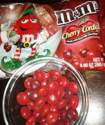 cherry cordial m&ms