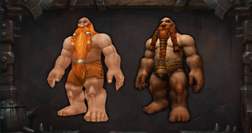 World of Warcraft Dwarf character redesign