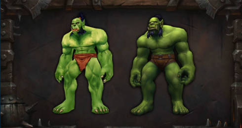 World of Warcraft Orc character redesign
